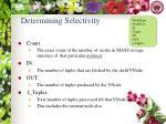 determining selectivity