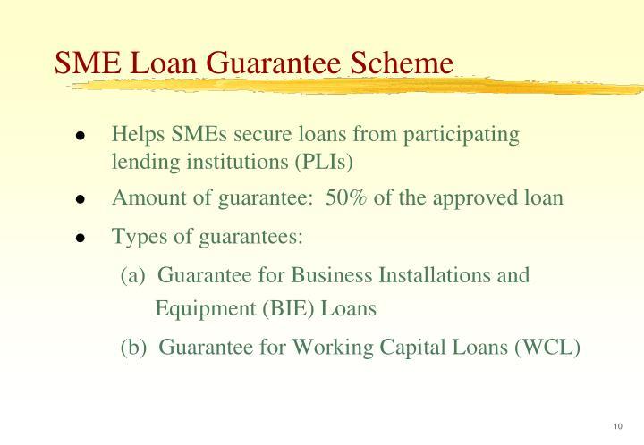 SME Loan Guarantee Scheme