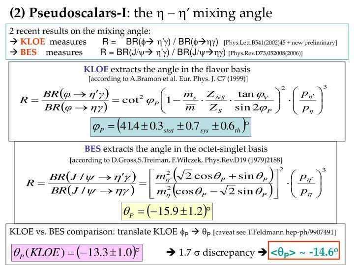 (2) Pseudoscalars-I