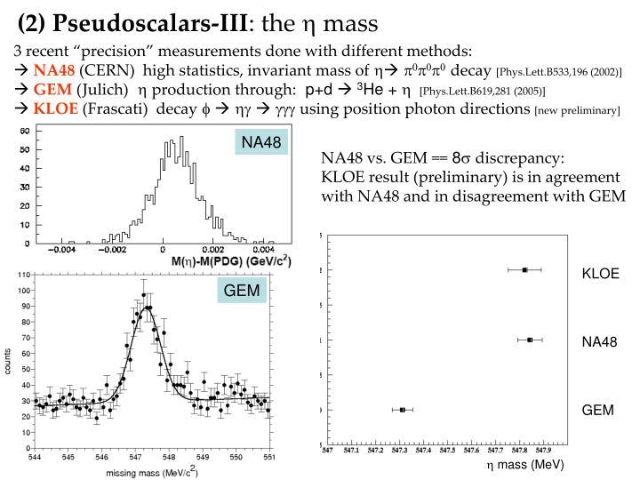 (2) Pseudoscalars-III