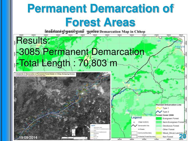Permanent Demarcation of Forest Areas