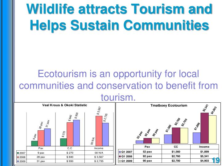 Wildlife attracts Tourism and Helps Sustain Communities