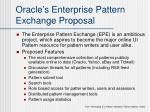 oracle s enterprise pattern exchange proposal