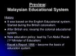preview malaysian educational system