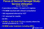 focus of second senegal study service utilization may 2003 march 2005