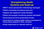 strengthening health systems and scale up