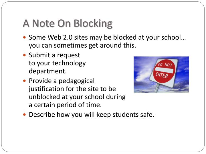A Note On Blocking