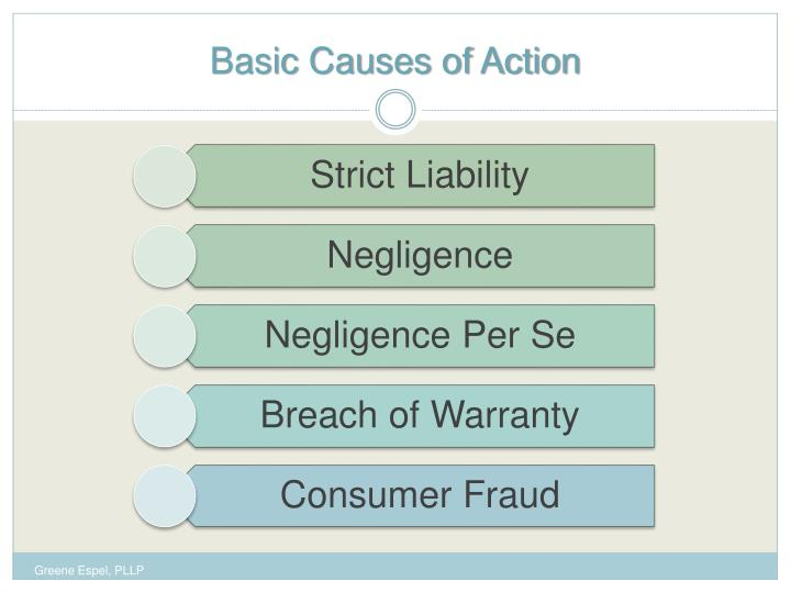 Basic causes of action