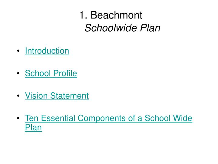 1 beachmont schoolwide plan