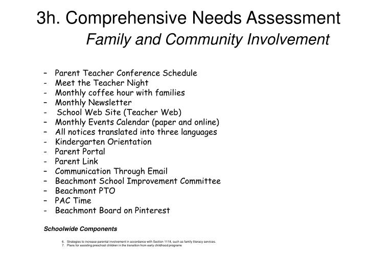 3h. Comprehensive Needs Assessment