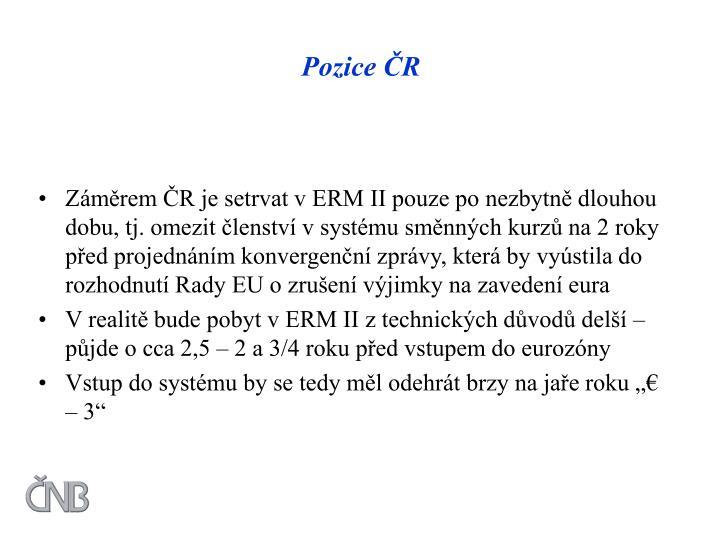 Pozice ČR