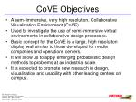cove objectives