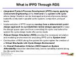 what is ippd through rds