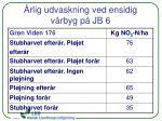 rlig udvaskning ved ensidig v rbyg p jb 6
