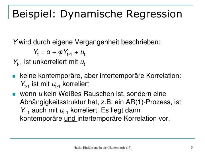 Beispiel: Dynamische Regression