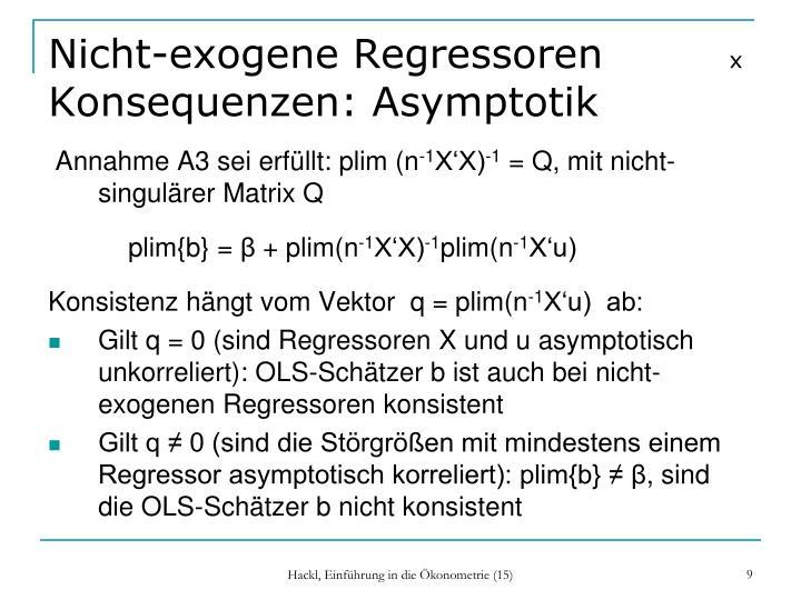 Nicht-exogene Regressoren