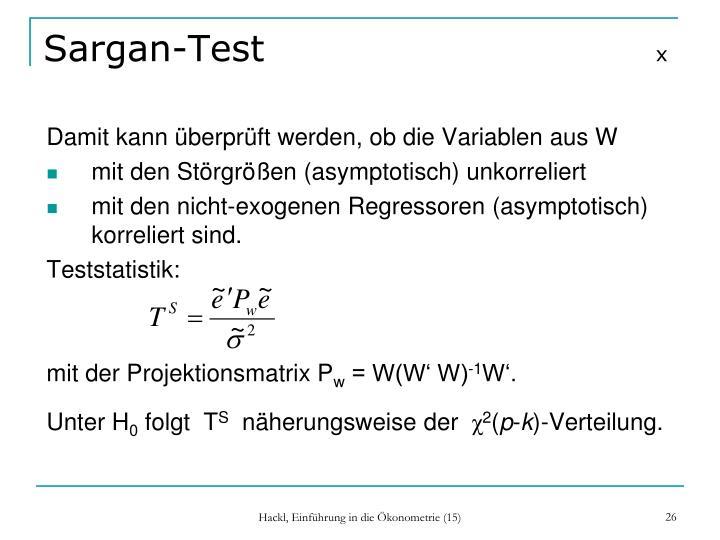 Sargan-Test