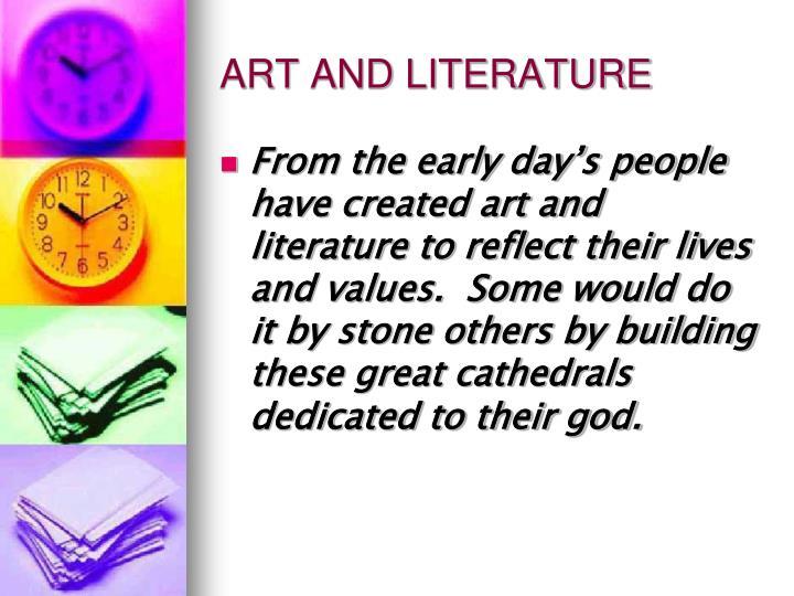 ART AND LITERATURE