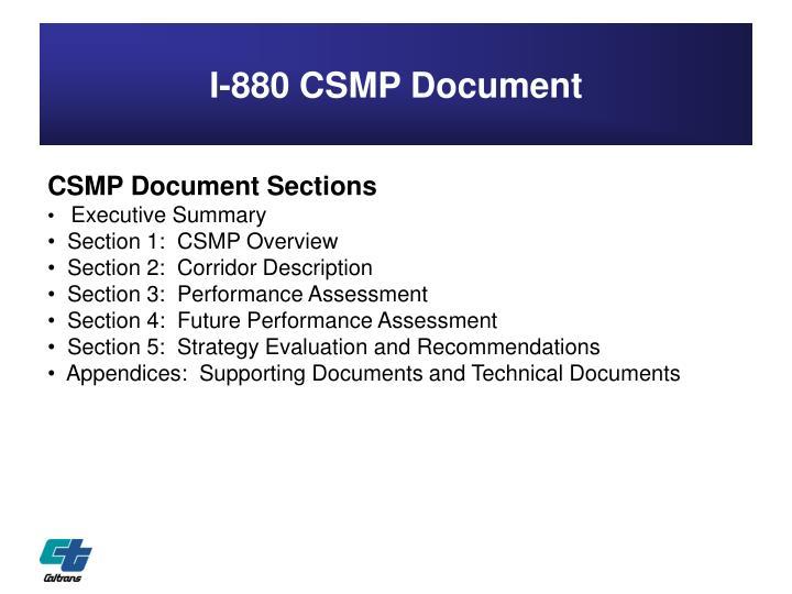 I-880 CSMP Document