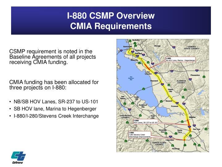 I 880 csmp overview cmia requirements