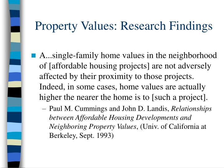 Property Values: Research Findings