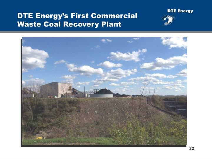 DTE Energy's First Commercial Waste Coal Recovery Plant