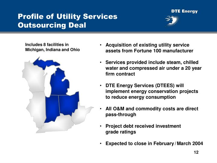 Profile of Utility Services Outsourcing Deal