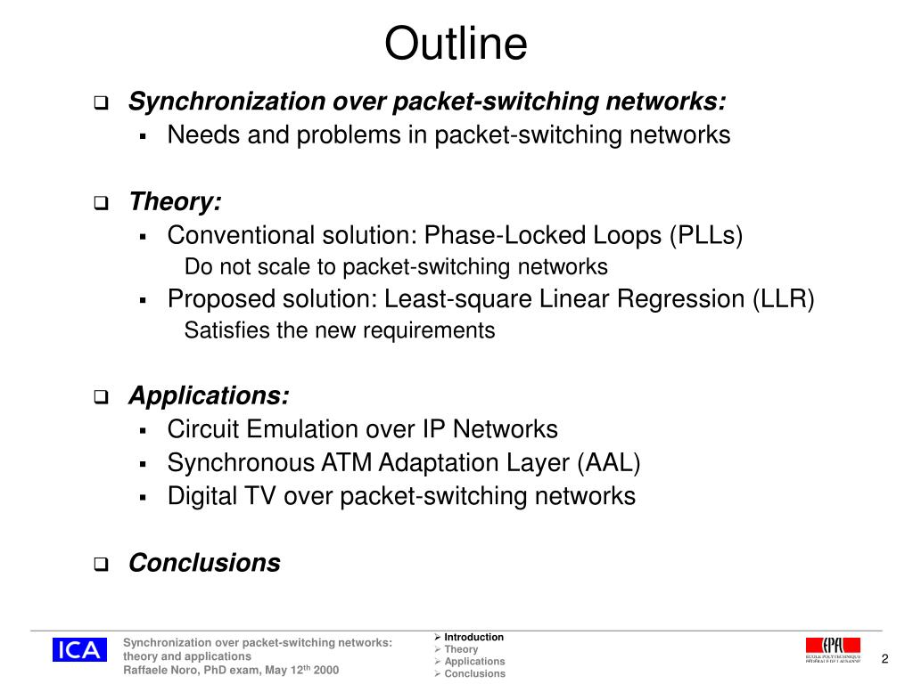 PPT - Synchronization over packet-switching networks: theory and