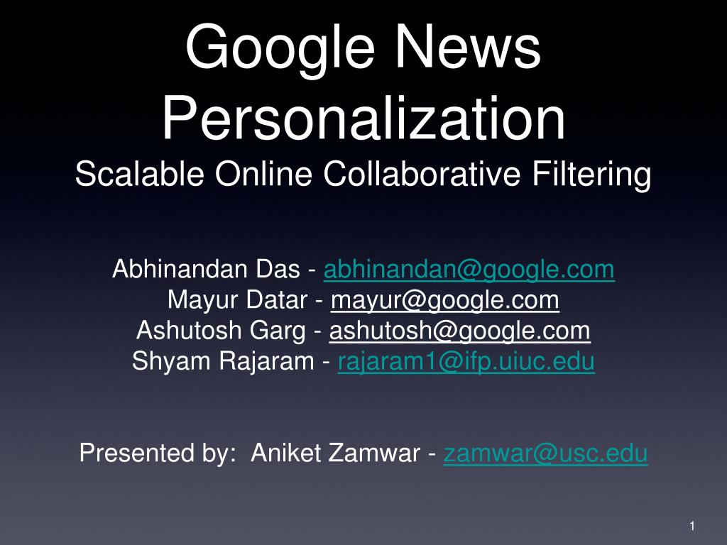 ppt google news personalization scalable online collaborative