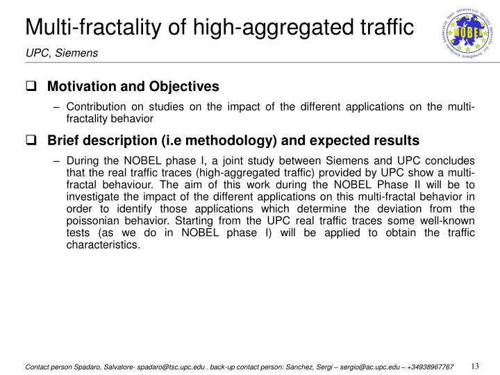 Multi-fractality of high-aggregated traffic