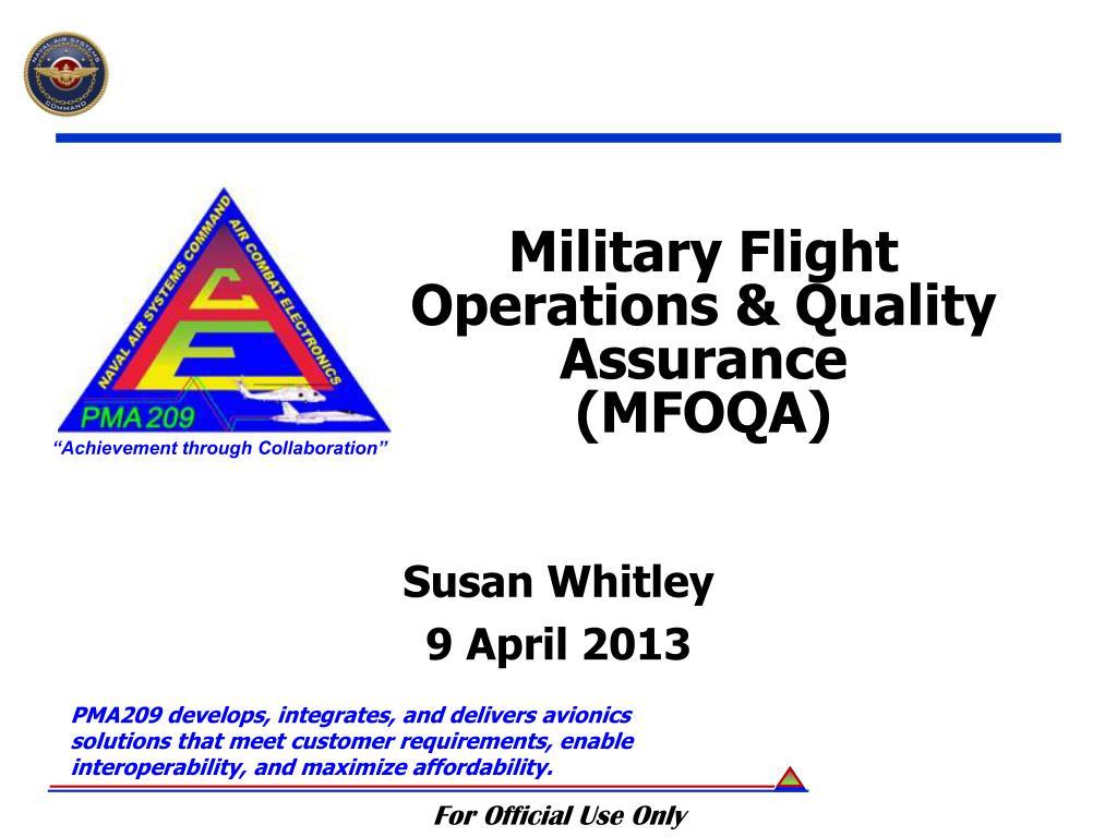 military flight operations quality assurance mfoqa n.