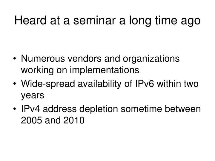 Heard at a seminar a long time ago