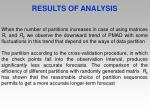 results of analysis