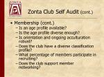 zonta club self audit cont