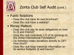 zonta club self audit cont3