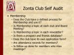 zonta club self audit