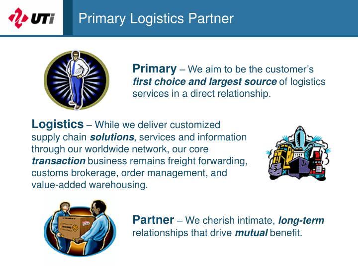 Primary Logistics Partner