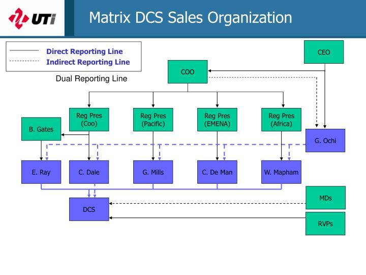 Matrix DCS Sales Organization