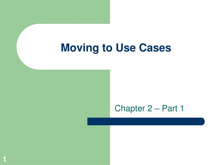 moving to use cases n.