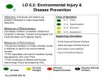lo 6 2 environmental injury disease prevention