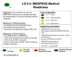 lo 6 4 medpros medical readiness