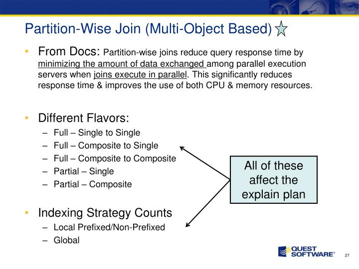 Partition-Wise Join (Multi-Object Based)
