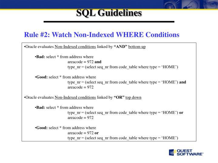 SQL Guidelines
