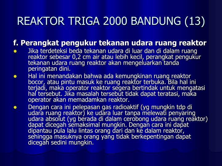 REAKTOR TRIGA 2000 BANDUNG (13)