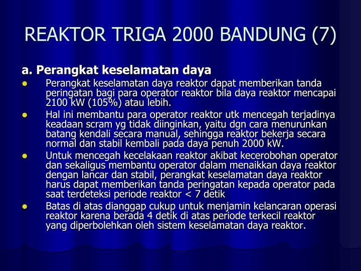 REAKTOR TRIGA 2000 BANDUNG (7)
