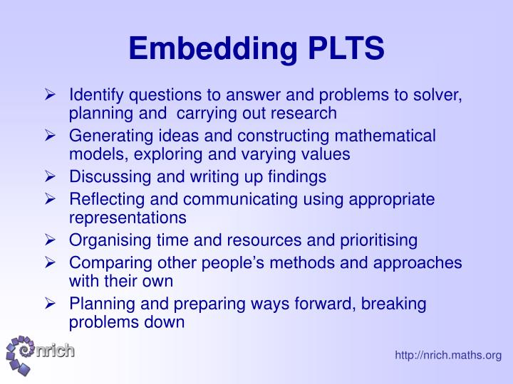 Embedding PLTS