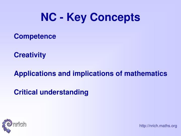 NC - Key Concepts