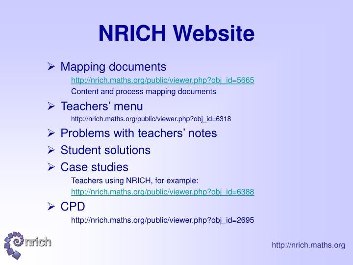 NRICH Website