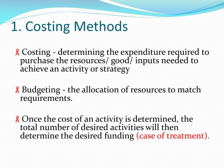 1. Costing Methods