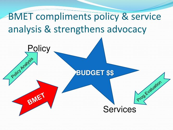 BMET compliments policy & service analysis & strengthens advocacy